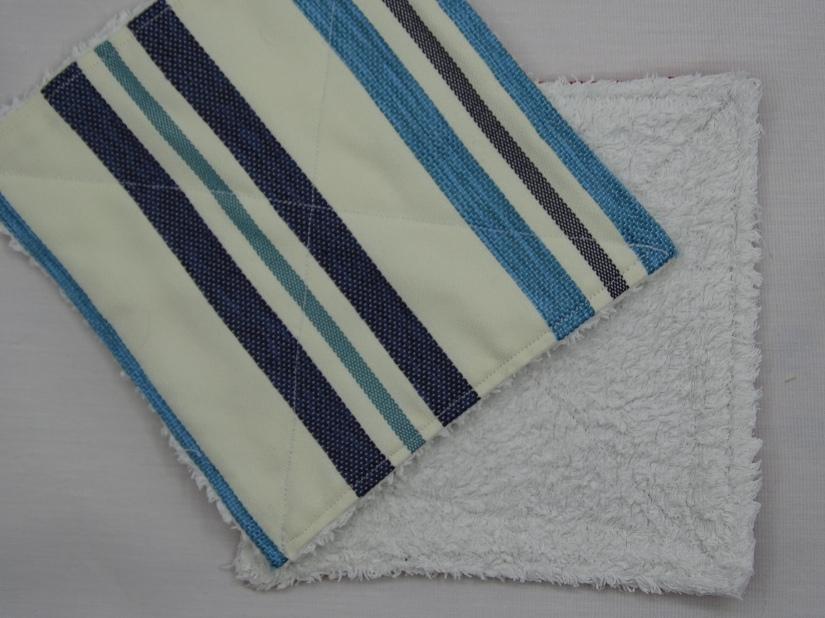 Essuie tout-réutilisable-lavable-blue-rayures